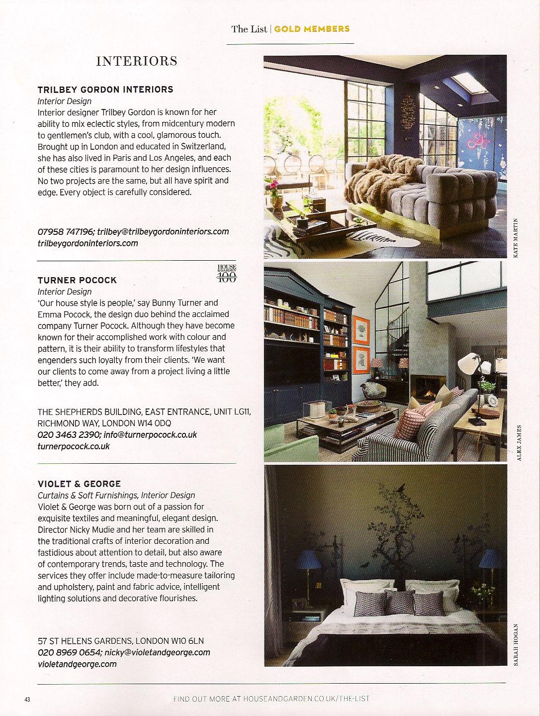 Trilbey Gordon Interiors Interior Design London